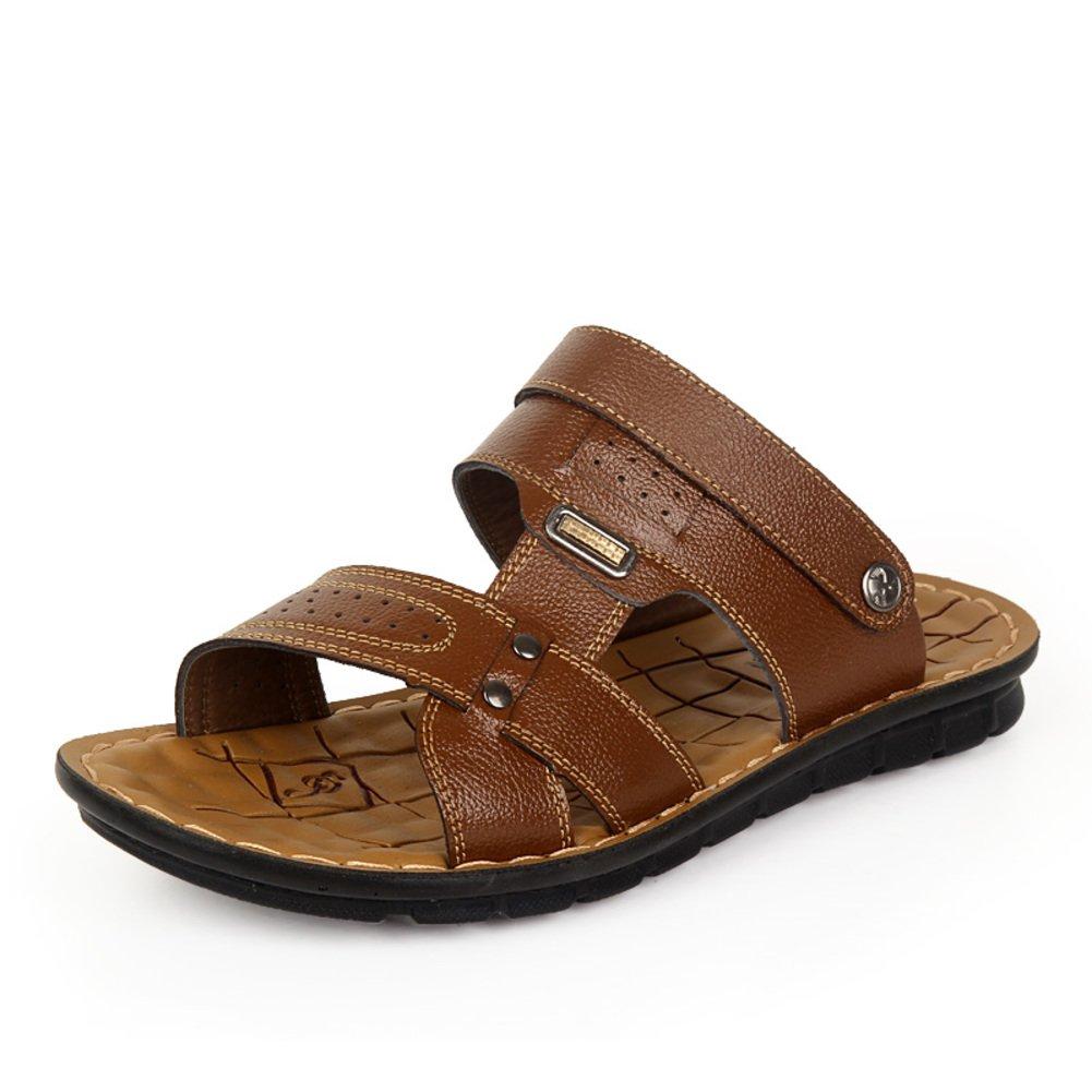 Ojotas verano hombres/Sandalia de la correa/zapatos casuales/Deslizador de los hombres al aire libre playa doble Longitud del pie=26.8CM(10.6Inch)|A
