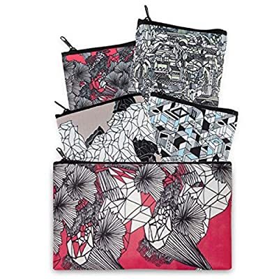 LOQI Pen Art Collection Pouch, Reusable Bags, Multicolored, Set of 4