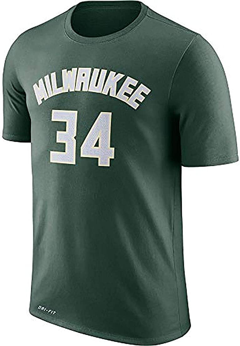 OuterStuff Giannis Antetokounmpo Milwaukee Bucks #34 Youth Vertical Player Name /& Number T-Shirt