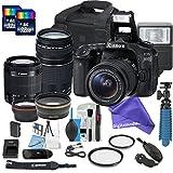 Canon EOS 80D DSLR Camera Bundle with + 2 PC 16 GB Memory Card + Camera Case + 18-55mm Lens + 75-300mm Lens + DigitalAndMore ULTIMATE BUNDLE for your creativity
