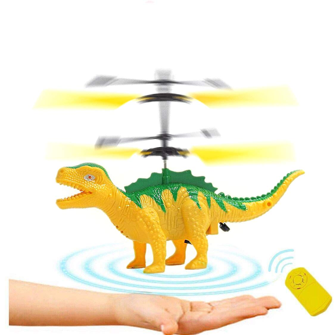 Anda RC Flying Helicopter Dinosaurs Dragon Toys for 6 Year Old Boys Girls Kids, Mini Remote and Hand Controlled Dinosaurs Helicopter for Birthday Holiday Xmas by Anda