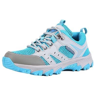 snfgoij Ladies Schnell Trocknende Mesh Sportschuhe Slip on Water Schuhe Atmungsaktiv Breathable Wandernde Turnschuhe Im Freien,Gray-39
