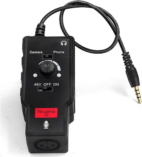 Nicama V2 Adaptador de Audio para micrófono y Guitarra con ...