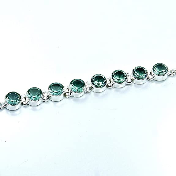 Incredible Sterling Silver Lab Created Color Change Alexandrite Bracelet, Adjustable From 5.5