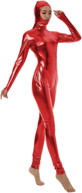 WOLF UNITARD Mens Shiny Metallic Unitard Bodysuits