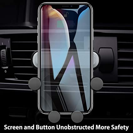 Car Phone Mount Universal Car Aircon Outlet Phone Holder Smartphone Cradle Vehicle Bracket for iPhone Huawei Samsung LG Nexus Sony Nokia and More