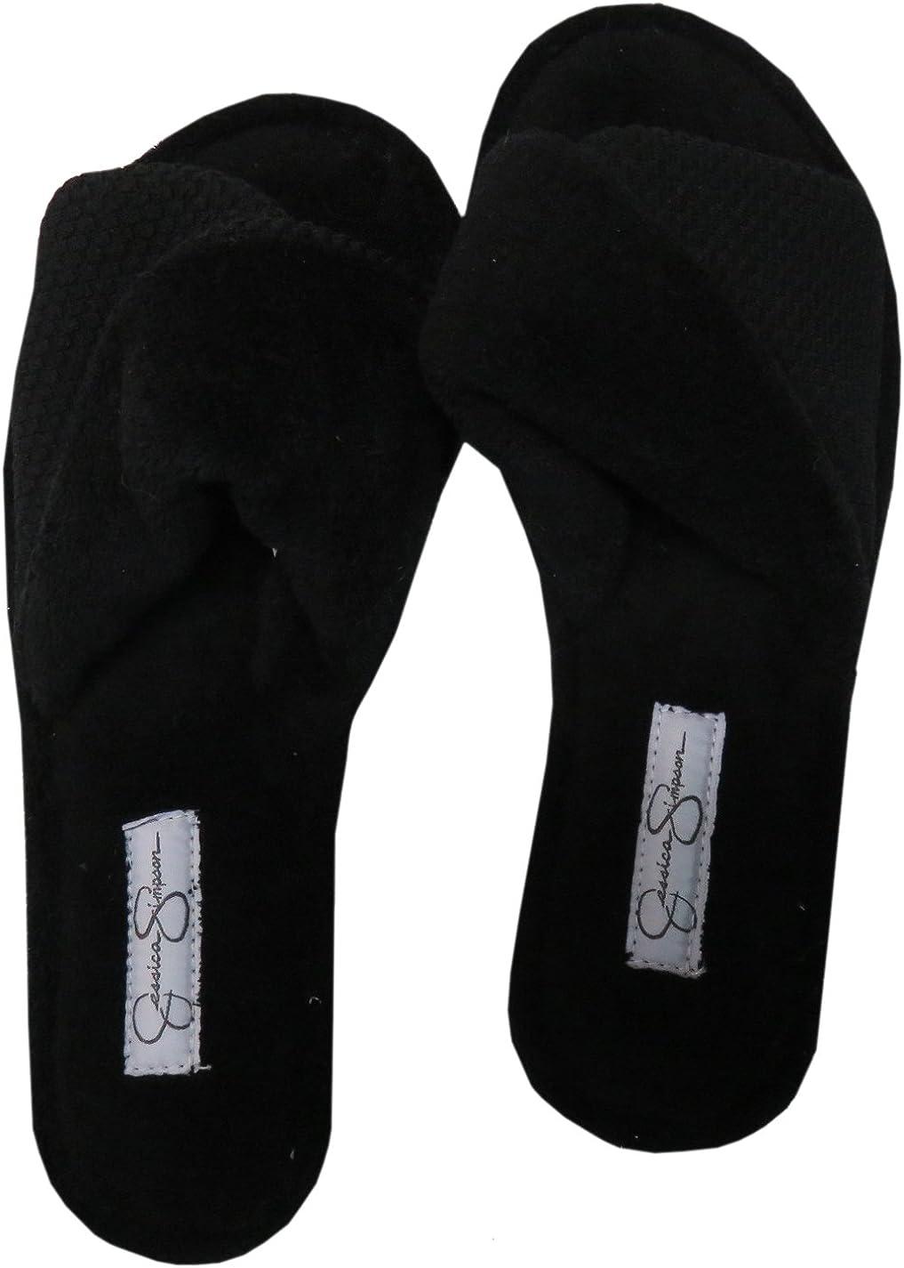 Open Toe Slippers Black
