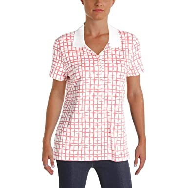 fa426b8545a04b Image Unavailable. Image not available for. Color: Tommy Hilfiger Women's  Knit Printed Polo Top ...