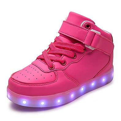 2db582c4d8ee5 DoGeek -LED Basket Lumineuse Enfants Garçon Fille -Securité Mode Haut  Dessus 7 Couleurs Clignotants