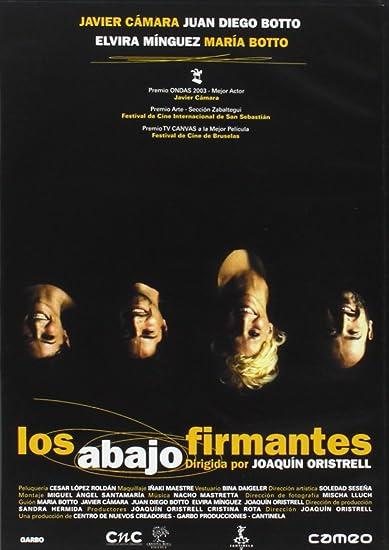 Los abajo firmantes [DVD]: Amazon.es: Elvira Minguez, Juan Diego ...