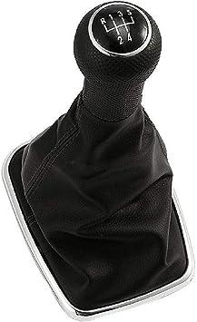 5 Speed Black Leather Gear Shift Knob Gaitor Boot For Bora Mk4 R32 1998-2005