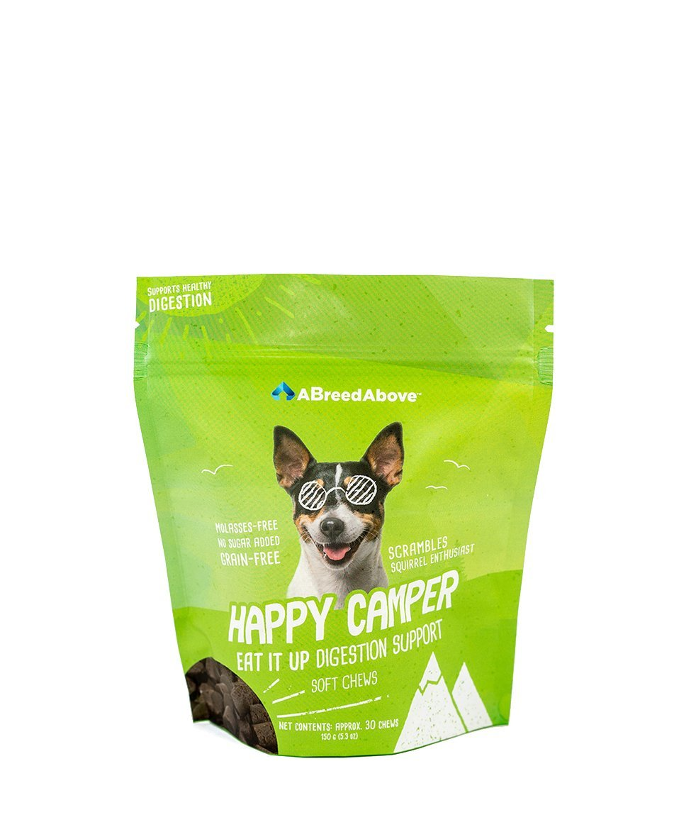 A Breed Above: Happy Camper Eat It up Digestion Support, 30 Count