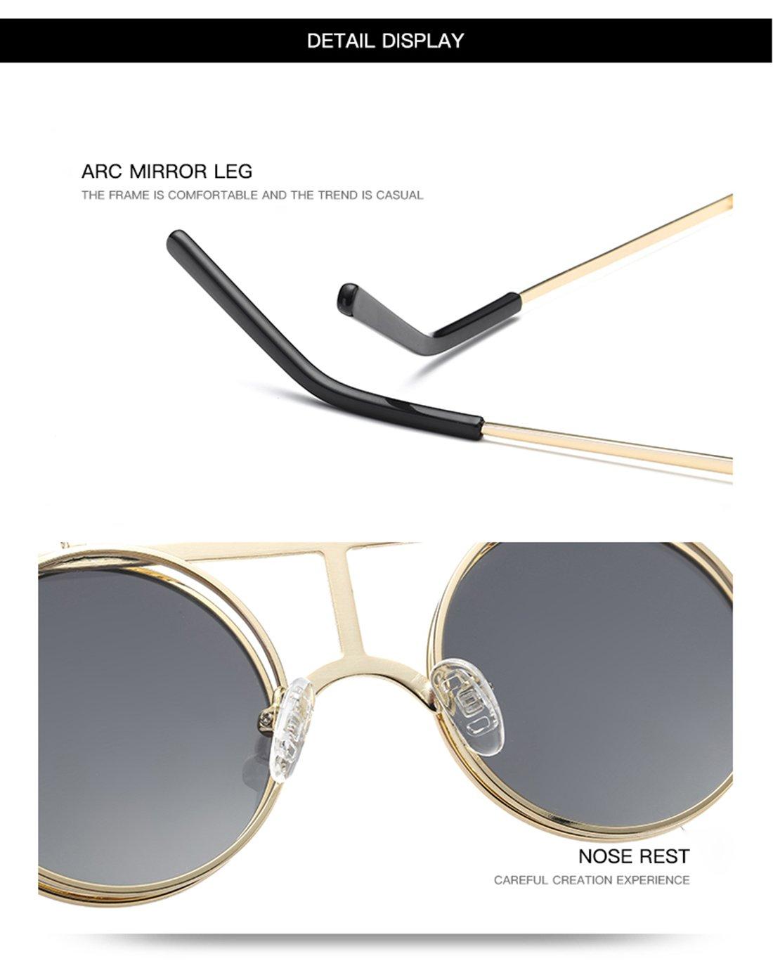 c28d9afe2e Joopin-Round Retro Polaroid Sunglasses Driving Polarized Glasses Men  Steampunk Simple packaging ) E4056