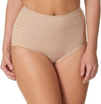 Flexees Womens DM1028 Firm Foundations Tame Your Tummy Anti-Static Brief Shapewear Briefs