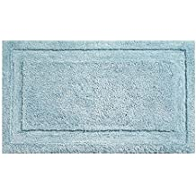"InterDesign Microfiber Spa Bathroom Accent Rug, 34"" x 21"" Inches, Water"
