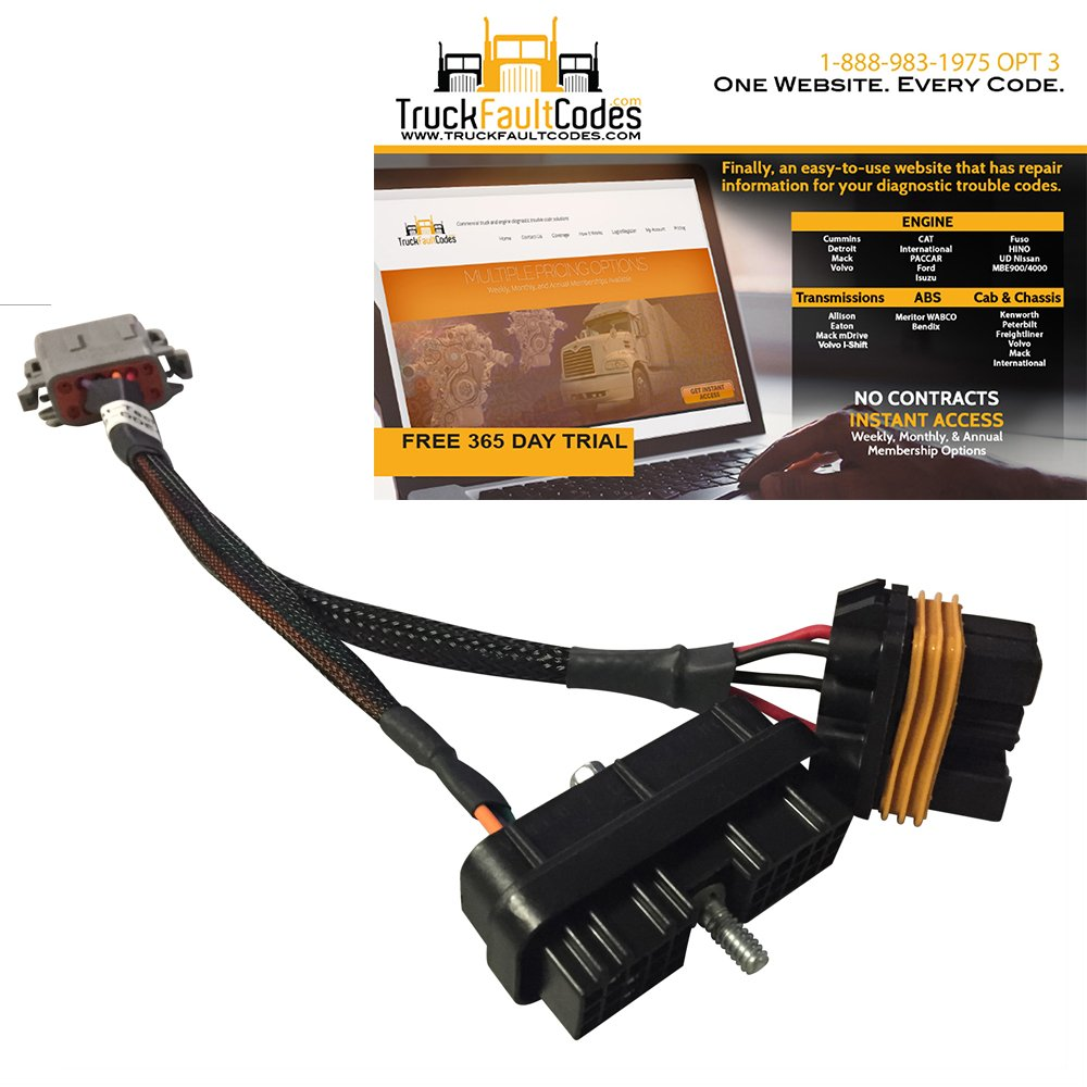 Bypass Breakout Programming Cable for Detroit DDEC IV ECMs with TruckFaultCodes by Diesel Laptops