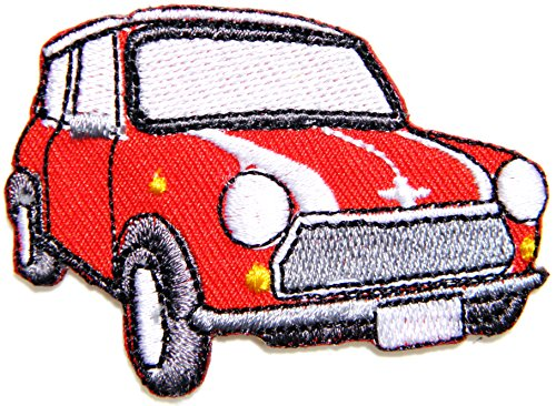 RED MINI COOPER Vintage Model Logo Sign Car Racing Patch Iron on Applique Embroidered T shirt Jacket Gift BY SURAPAN