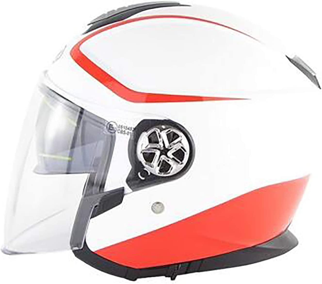 Smx Harley Retro del Casco, Moto Motocross Casco de la Vespa, Certificación Dot, 3/4 Cara Abierta Retro Piloto Casco, Doble Lente Medio Casco ECE Standard 519,XL: Amazon.es: Hogar