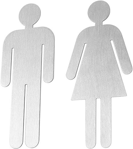 Türschild|Hinweisschild|Holzschild|Toilette|Antik|9x6,5cm|selbstklebend