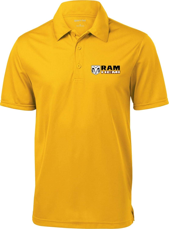 Amazon Dodge Ram Hemi Textured Polo Pocket Print Clothing