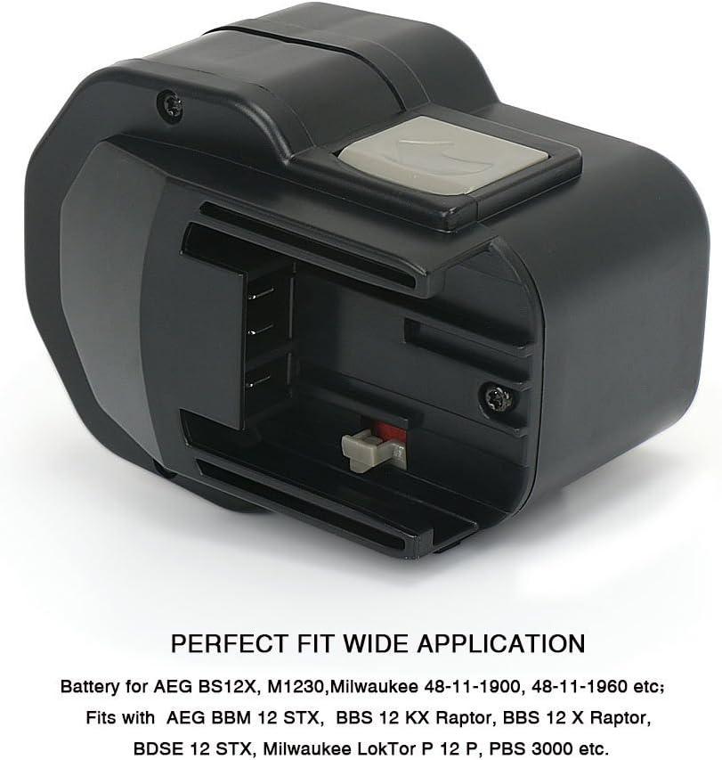 BXS12 12 Volt WBE2E 12 BDSE 12T Akku für AEG Typ 2000 BEST 12X