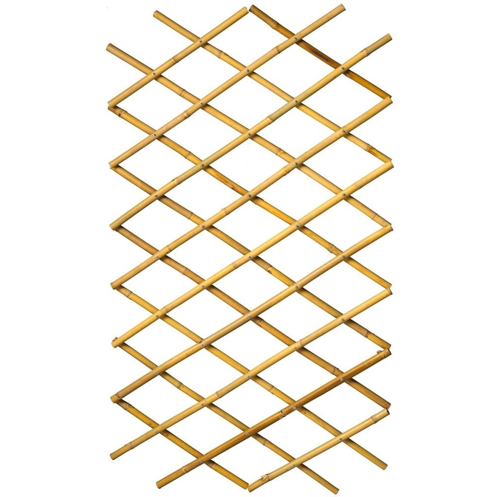 409344 Nature Garden Trellis Expanding Fence Panel Decor 70x180cm Bamboo 6040721 8711338407219
