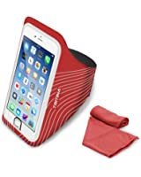 Tritina Sport Armband Size Up to 5.5inch For iPhone Touch ID + Fitness Cool Towel [Red]