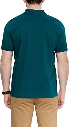 Lc Waikiki Green Cotton Round Neck Polo For Men