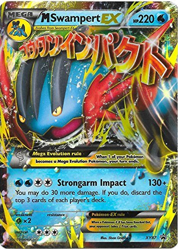 Mega/M Swampert EX Pokemon Card (Promo #XY-87) Ultra-Rare, Holo-Foil