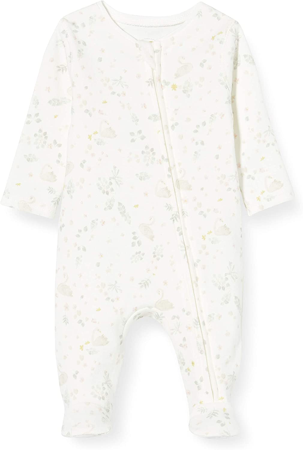 Mamas /& Papas Baby Girls Floral Zip All-in-one Romper