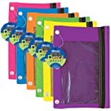 3-Ring Pencil Pouch with Mesh Window Quantity: Case of 144, Color: Bright