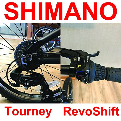 "EuroMini Via 20"" Folding Bike-Lightweight Aluminum Frame Genuine Shimano 7-speed 26lb by EuroMini (Image #4)"