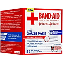 Band-Aid First Aid Gauze Pads, 2 in x 2 in, 25 ea (Pack of 1)