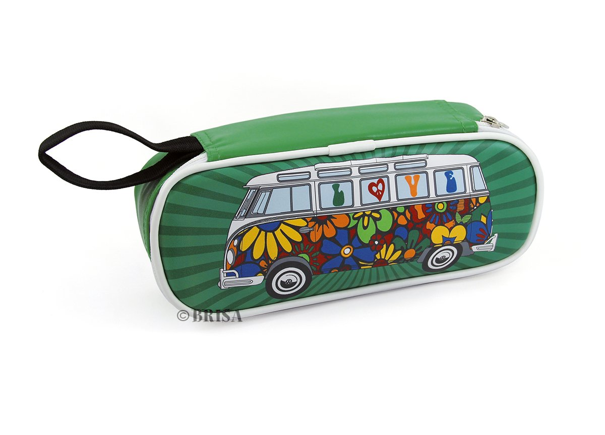 BRISA VW Collection VW T1 Bus Pencil & Cosmetic Case - Love Bus by BRISA
