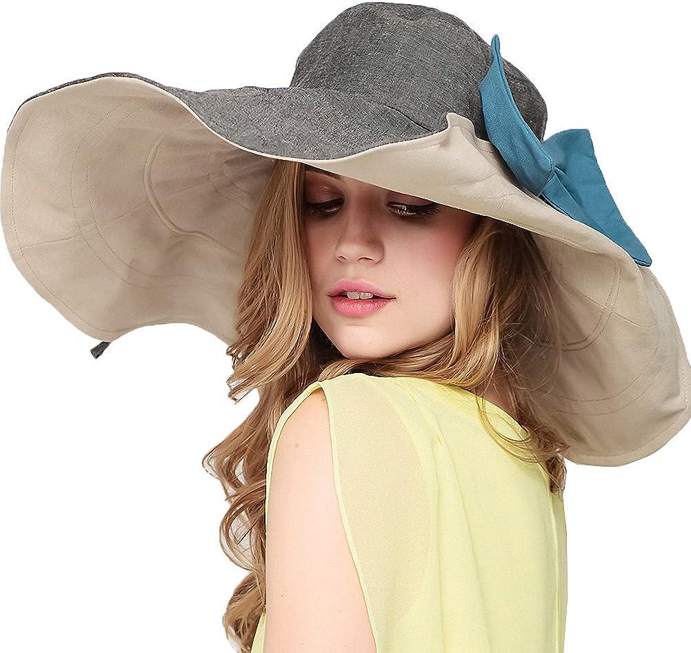 Maitose Women's UV Sun Protection Beach Wide Brim Fishing Hat