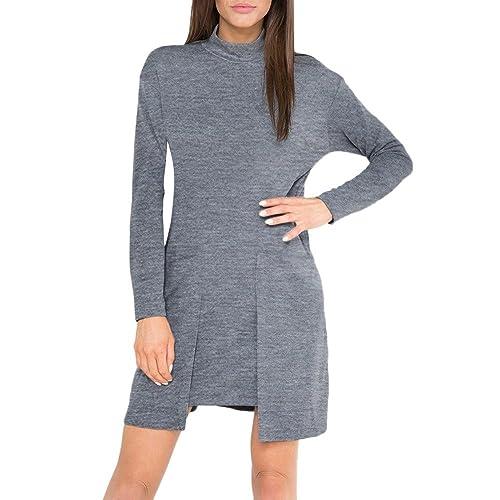 Vestido informal de Otoño, 2017 Kukul Mini-vestido de Cuello redondo - Vestido Con bolsillo
