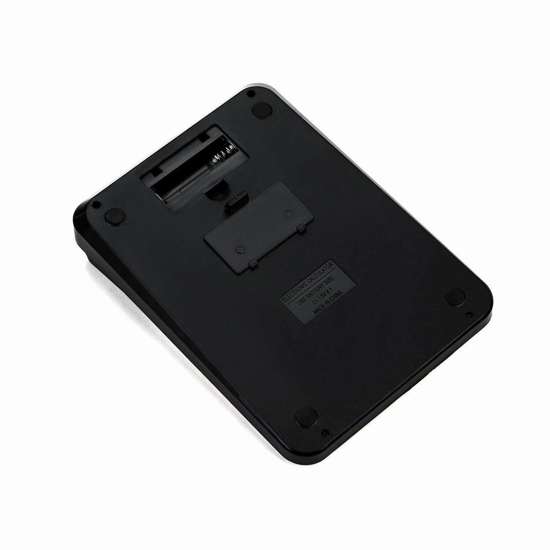 solarbetrieben batteriebetrieben gro/ßes Display Gro/ßer Taschenrechner mit 14 Ziffern und gro/ßer Taste Geldrechner f/ür Business Schule Rechner f/ür B/üro und Buchhaltung