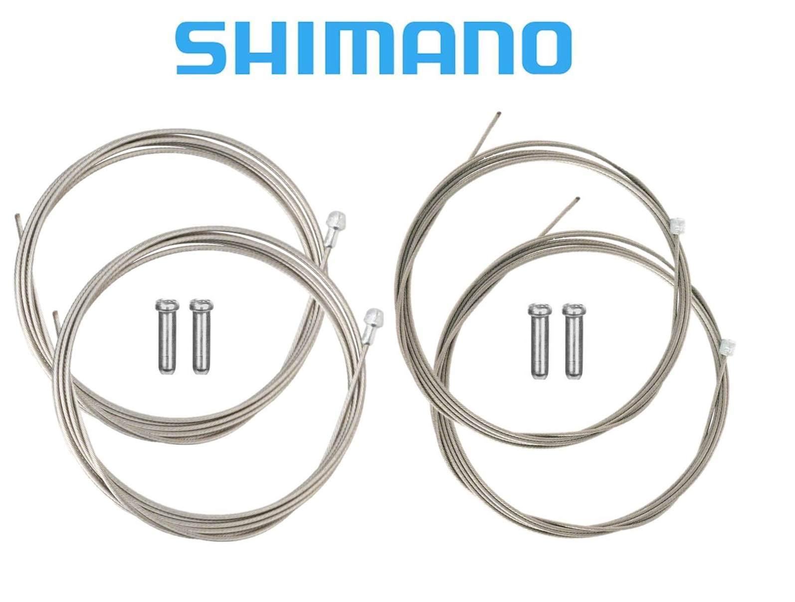 SHIMANO Road Brake and Shifter Cable Set Bundle, Housing Sold Separately by SHIMANO