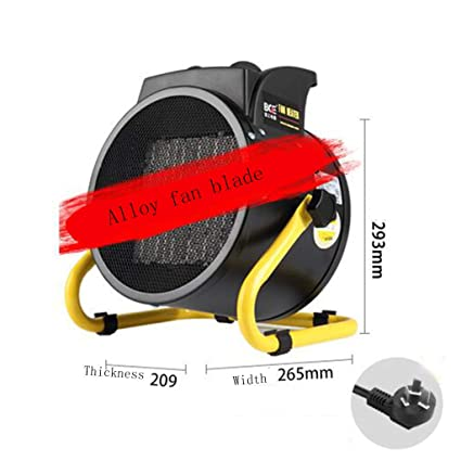 GJM Shop Calefacción Cerámica PTC Calentador 220V 3KW Alto Voltaje Casa Baño 218 M3 / H