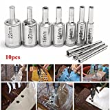 10pcs 5-22mm Diamond Hole Saw Drill Bit Set Tile Ceramic Glass Porcelain Marble Drill Bits