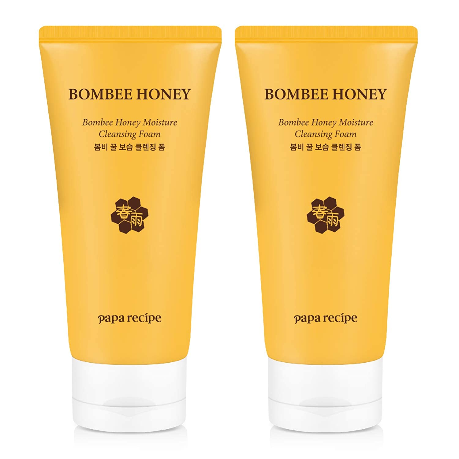 Papa Recipe Bombee Honey Moisture Cleansing Foam Pack of 2 , Korean Skin Care, Moisturizing Face Wash, 8.10 Ounce