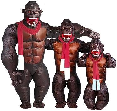 Amazon.com: Gorilla Inflable Costume - Disfraz de Orangután ...