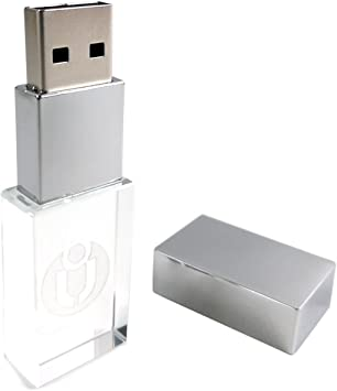 Custom Logo Crystal USB 2.0 Flash Drive DJ Music Photo Storage Pendrive Box