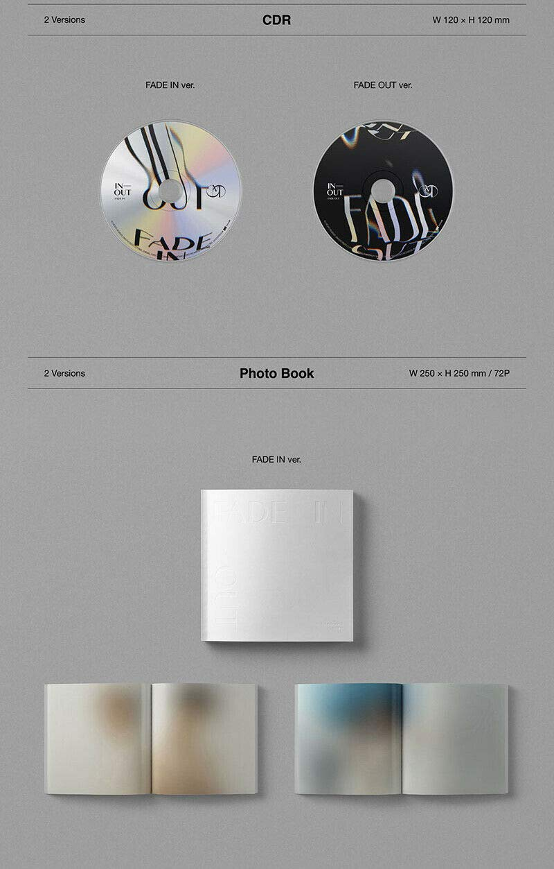 Fantagio MOONBIN /& SANHA Astro Fade in+Fade Out ver. Set in-Out Album+Folded Poster+Extra Photocards Set