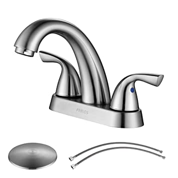 PARLOS 2-Handle Bathroom Sink Faucet with Drain Assembly and Supply ...