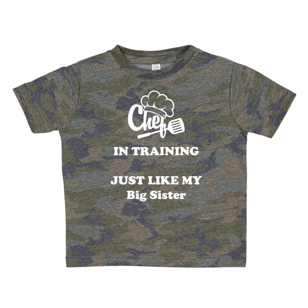 Toddler//Kids Short Sleeve T-Shirt Chef in Training Just Like My Big Sister