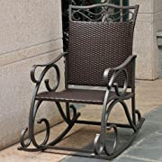 Lisbon Resin Wicker and Steel Rocking Chair