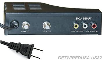 RF MODULATOR RCA COAX CABLE ADAPTER TV AV COAXIAL CONVERTER BOX AUDIO VIDEO RCA IN  sc 1 st  Amazon.com & Amazon.com: RF MODULATOR RCA COAX CABLE ADAPTER TV AV COAXIAL ... Aboutintivar.Com