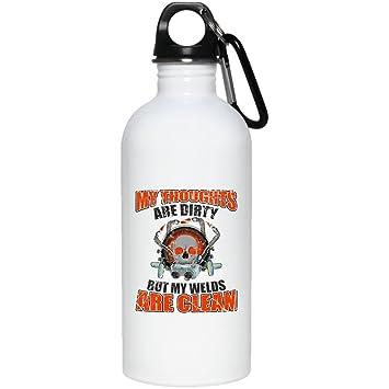 Soldador Soldadura de mis pensamientos están sucios, pero mi soldaduras se limpia divertido regalo, botella de agua: Amazon.es: Deportes y aire libre