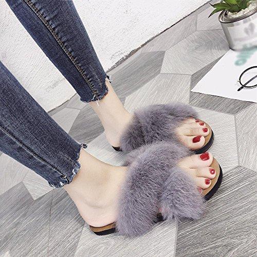 Piatte Piatto Esterni Antiscivolo Donna Sandali Moda Warm In Da Shoes Pantofole Sonnena Per Casual Pelliccia Scamosciato Scarpe Donna Pantofola Interni Tacco 1qOBwO0
